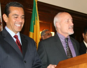 Ed Boks and Mayor Villaraigosa